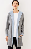 J. Jill Pure Jill Two-Toned Hooded Cardi