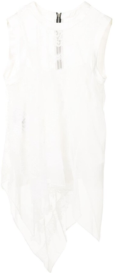 Sacai Sheer Lace Tank Top