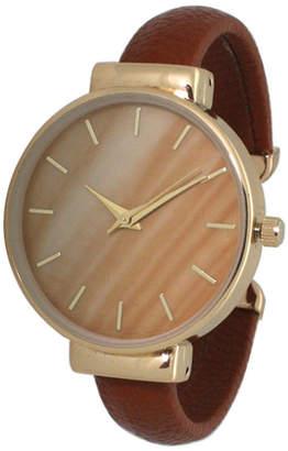 Women Gradiant Design Leather Cuff Watch 38mm