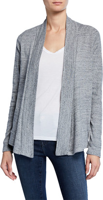 Splendid Classic 1x1 Heathered Open-Front Cardigan