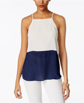 Lily Black Juniors' Colorblocked Top, Only at Macy's