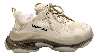 Balenciaga Triple S Beige Cloth Trainers