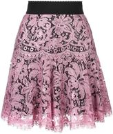 Dolce & Gabbana lace pleated skirt - women - Silk/Cotton/Polyamide/Viscose - 40