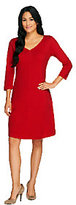 Isaac Mizrahi Live! Essentials Knit Dress with Seaming Detail