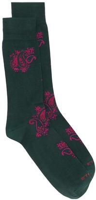 Etro Paisley-Pattern Jacquard Socks