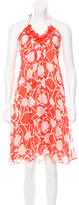 Milly Silk Halter Dress