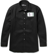 Raf Simons + Robert Mapplethorpe Foundation Appliquéd Denim Overshirt