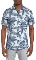 Hurley Men's Long Waves Print Shirt