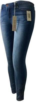 American Vintage \N Blue Cotton - elasthane Jeans for Women