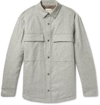 Fear Of God Melton Wool-blend Primaloft Overshirt - Gray