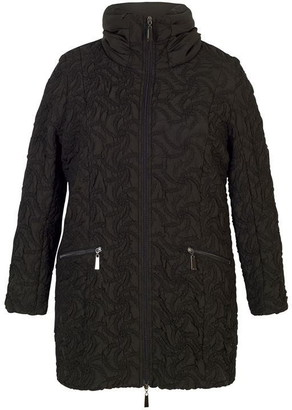 Chesca Embroidered Quilted Coat