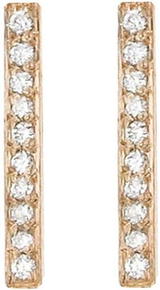 Jennifer Meyer Diamond Long Bar Stud Rose Gold Earrings