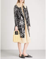 Shrimps Hokus embroidered faux-leather coat
