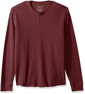 Lucky Brand Men's Casual Long Sleeve Burnout Thermal Notch Neck TEE