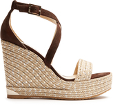 Jimmy Choo Portia 120mm suede wedge espadrilles