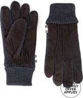 Aquascutum London Victor Suede Knitted Gloves