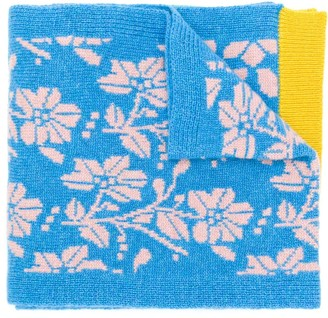 Barrie New Delft cashmere scarf