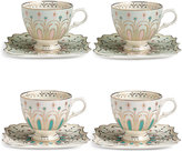 Marks and Spencer Hollywood Deco Set of 4 Cups & Saucers