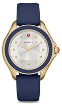 Michele Women's Cape Topaz Dial Silicone Strap Watch, 40Mm