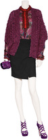 Anna Sui Hot Pink Lurex Silk Blouse