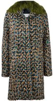 Maison Margiela faux fur collar coat