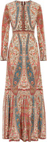 Vilshenko Tired printed silk maxi dress