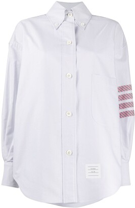 Thom Browne 4-Bar oversized Oxford shirt