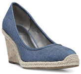 Lifestride Listed Woven Espadrille Wedge Shoes