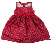 Penelope Mack Girls 2-6x Dotted Holiday Dress