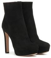 Prada Suede platform ankle boots