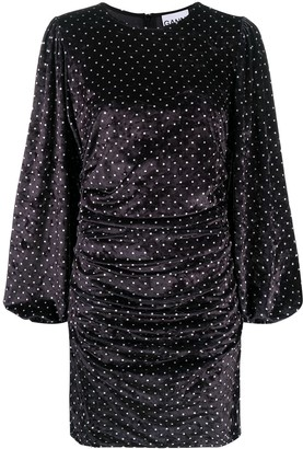 Ganni Polka Dot Velvet Dress