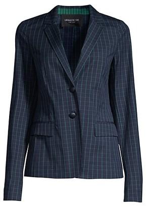 Lafayette 148 New York Thatcher Cotton Hatch-Pattern Blazer