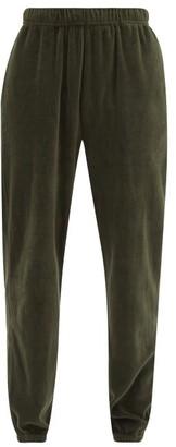 LES TIEN Cotton-blend Velour Track Pants - Khaki