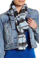 David & Young Striped Metallic Knit Scarf