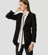 LOFT Petite Draped Fringe Tweed Coat