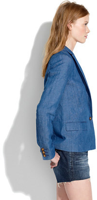 Madewell Tailored Blazer in Chambray