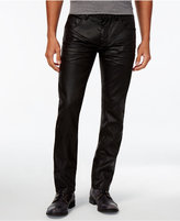 INC International Concepts Men's Slim-Fit Black Metallic Jeans, Only at Macy's