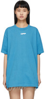 Off-White Off White Blue Airport Tape Over T-Shirt