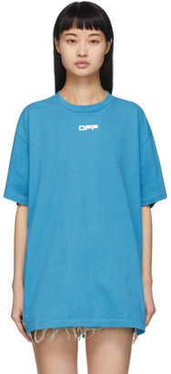 Off-White Blue Airport Tape Over T-Shirt