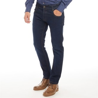 Onfire Mens Straight Fit Jeans Dark Wash
