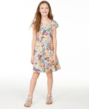 Epic Threads Big Girls Rainbow Stripe T-Shirt Dress, Created for Macy's
