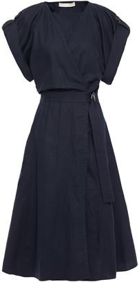 Vanessa Bruno Iron Cotton, Linen And Tencel-blend Wrap Dress
