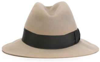 Hermes Pre-Owned Grosgrain Band Fedora Hat