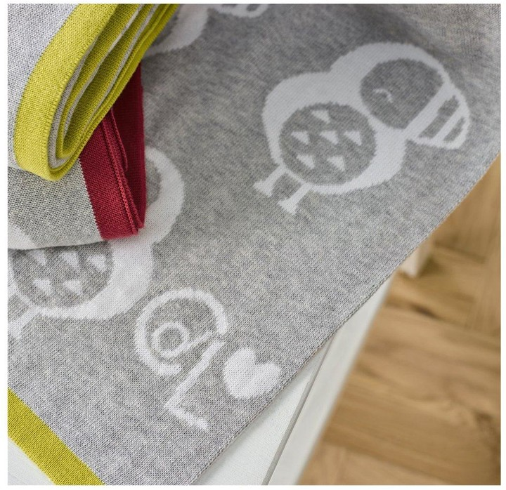 Clair De Lune Piper The Puffin Reversible Blanket