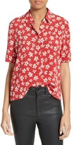 The Kooples Women's Floral Print Silk Shirt