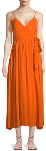 Mara Hoffman Alma Sleeveless Wrap-Front Maxi Dress