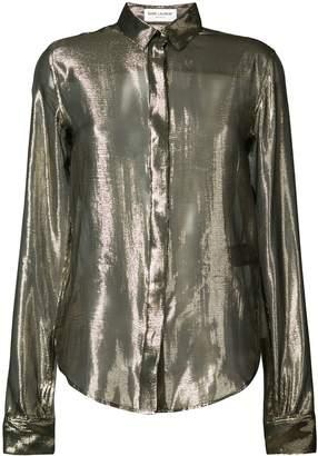 Saint Laurent sheer metallic blouse