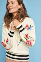 Anthropologie Olympia Embroidered Jumper