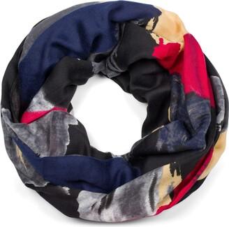 styleBREAKER Women Loop scarf in multicoloured colour blocking style tube scarf multicoloured multicoloured scarf 01017136
