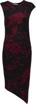Kain Label Astley asymmetric ruched striped stretch-modal dress
